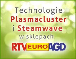 Technologie Plasmacluster oraz Steamwave dostępne w sieci