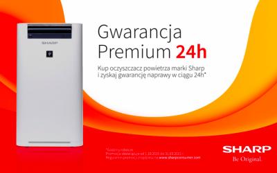Gwarancja Premium 24H dla oczyszczaczy Sharp Ultimate Air
