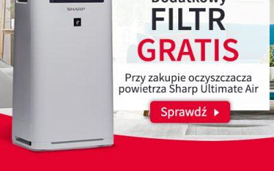 Oferta Specjalna !!! Oczyszczacze powietrza Sharp Plasmacluster + Extra filtr Gratis.